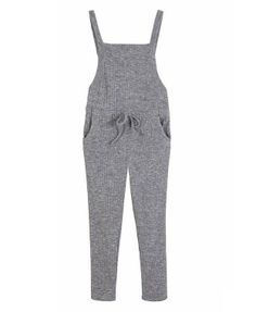 Elastic Strap Knitted Jumpsuit - Clothing