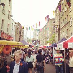 Whitecross Street Market in London, Greater London