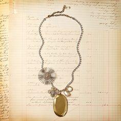 Gold Mirror Starburst Necklace, $114, now featured on Fab, by Jill Schwartz