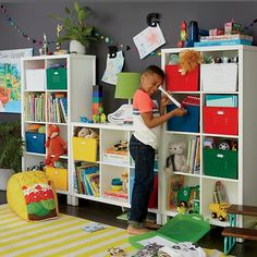 Eight Cube Tall Bookcase (White) | The Land of Nod