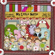 My Little Nurse kit & freebie cluster frame http://ditzbitzkidzkitz.weebly.com/my-little-nurse.html