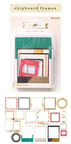 chipboard frames - the one that I did not manage to get.. :(