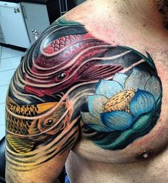 Cool Tattoos For Men: Awesome Tattoo Ideas, Best Tattoo Desi Back Tattoos, Skull Tattoos, Leg Tattoos, Arm Tattoo, Tribal Tattoos, Sleeve Tattoos, First Tattoo, Get A Tattoo, Japanese Tattoos For Men