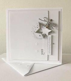 Chrismas Cards, Christmas Card Crafts, Homemade Christmas Cards, Christmas Cards To Make, Homemade Cards, Holiday Cards, New Home Cards, Beautiful Christmas Cards, Star Cards