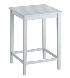 """Italy Pub Table (White) (36""""H x 26""""W x 26""""D) by Boraam. $146.65. Solid hardwood for either indoor or outdoor use.. Simple styling to fit any decor.. Color: White. Leg stretchers for strength and stability.. Size: 36""""H x 26""""W x 26""""D. The simple styling of this Italy Pub Table will be a perfectaddition to any of your existing decor! Thispiece works greatas an indoor or outdoor table.Constructed fromdurable solid hardwood,thissquare table features leg stretchers whi..."""