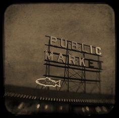 Public Market Sign at Pikes Place Market
