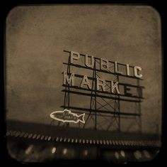 Public Market Sign at Pikes Place Market