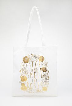 Rose Graphic Shopper Tote | FOREVER21 - 1000118528