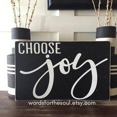 Choose JOY  Insprational Wall Art  Wood Signs  by WordsForTheSoul