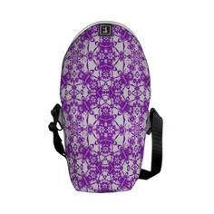 White Purple Lace Mini Messenger Bag