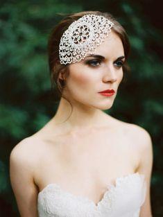 dreamcatch lace wedding headpiece