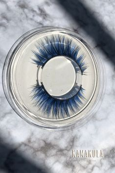 A pair of charming blue false eyelashes with mysterious beauty; Perfect for festivals, themed nights and raves. Use Tips:  Simply apply some latex eyelash glue, wait about 30 seconds or until glue becomes tacky and translucent and apply to the eyelash line.  #kamakulashop #blueeyelashes #eyelashes #makeupart #creativemakeup #falseeyelashes #festivalmakeup Flower Makeup, Fairy Makeup, Mermaid Makeup, Makeup Art, Fantasy Hair, Fantasy Makeup, Exotic Makeup, Rave Makeup, High Fashion Makeup