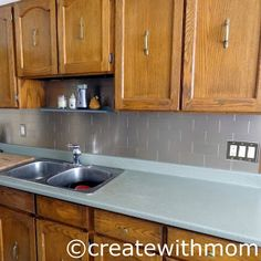 #DIY reno #kitchen backsplash using Aspect metal tiles