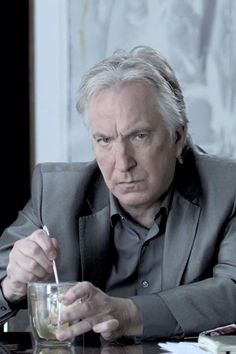 Alan Rickman. What a boss. If you don't know who this is, get out.