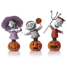NBX Lock Shock and Barrel Grand Jester Mini-Bust Set - Enesco - Nightmare Before Christmas - Busts at Entertainment Earth