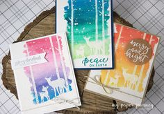My paper journey: Easy Watercolor Christmas cards and tips for mass producing with MISTY {video}