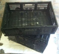Wholesale Lot Of 13 Stackable & Foldable Crates  SKU#6416 (All Offers Welcome) #GPMixedBrands