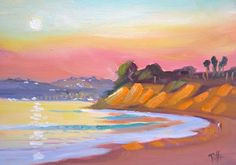 "We just bought a piece of art from Chris Potter - he was painting a scene of one of our favorite Santa Barbara area beaches - this isn't it, but our picture is spectacular! ""POSTCARDS FROM SANTA BARBARA"" a daily painting project by plein air artist Chris Potter."