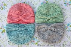 Crochet Baby Turban - Tutorial.