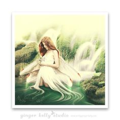 Faerie Goddess Portrait Fantasy Art Archive by GingerKellyStudio Water Nymphs, Legends And Myths, Art Archive, Australian Art, Fantasy Illustration, New Print, Community Art, Photo Manipulation, Giclee Print