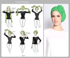 Erykah turban tutorial by duckscarves. Turban Hijab, Turban Mode, Turban Tutorial, Hijab Style Tutorial, Head Scarf Styles, Hair Styles, Chemise Fashion, Hair Wrap Scarf, Hijab Stile