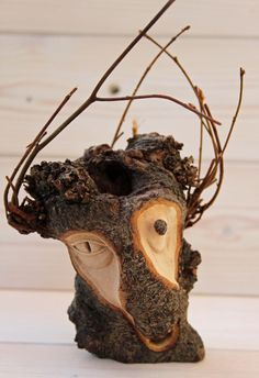 'Twiggy' a quirky tree spirit carving