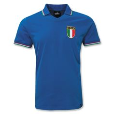 Italy World Cup 82 Home Soccer Jersey Italy World Cup, World Soccer Shop, Classic Football Shirts, Soccer Cleats, Premier League, T Shirts, Polo Ralph Lauren, Game, My Style