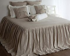 Bed COVERLET linen coverlet bed cover french style by LinumStudio