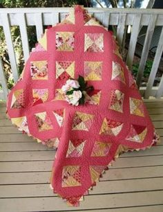 Beautiful pink quilt!