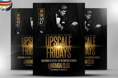 Upscale Fridays Flyer Template by FlyerHeroes on @creativemarket