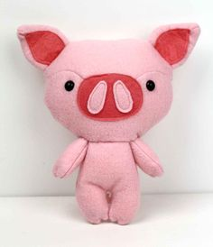 PIG Plushie Pattern // Soft Toy // Easy Felt Plush by Plushibles