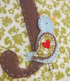 Abby Welker of A Feathered Nest shows us how to create a beautiful, framed monogram with felt and fabric. A bird embellishment tops of a simple sewn creation. Bird Bathroom, J Birds, Monogram Frame, My Little Girl, Bird Feathers, Diy Home Decor, Crafts For Kids, Card Making, Diy Ideas