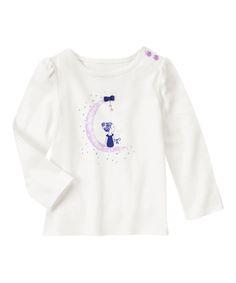 Gymboree Ivory Moon Girl Tee - Infant, Toddler & Girls | zulily
