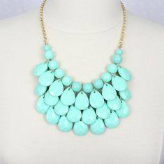 Statement Necklace Teardrop Necklace Multi by HelensCollection