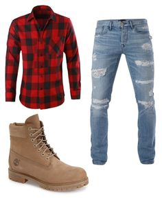 """#46"" by annavellucci on Polyvore featuring Timberland, 3x1, men's fashion and menswear"