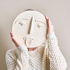 One of our decorative and handmade ceramic masks by Glowinglory available on our… – Ceramic Art, Ceramic Pottery Ceramic Mask, Ceramic Clay, Ceramic Bowls, Porcelain Ceramic, Pottery Plates, Ceramic Pottery, Thrown Pottery, Slab Pottery, Ceramic Decor
