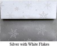 Silver Metallic Snowflake Envelope