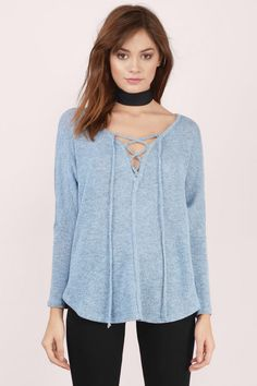 On My Way Lace Up Dolman Top