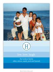 Blue Bold Stripe Photo Cards
