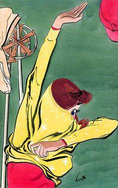 Masters of Illustration: Earl Oliver Hurst Illustration Tumblr, Vintage Illustration Art, Graphic Illustration, Graphic Art, Retro Art, Vintage Art, S Ki Photo, Oeuvre D'art, Pop Art
