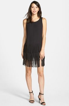 Vince Camuto Shift Dress with Tiered Fringe available at #Nordstrom. Just picked this up, love it!!!