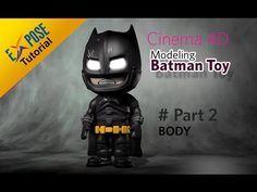 Cinema 4D Modelling - Batman Toy | Part 3 : Material - YouTube