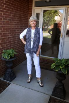 Fifty, not Frumpy: The Covered Perfectly Cascading Vest