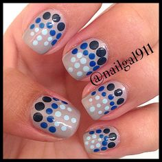 I like the ombre idea with the polka dots