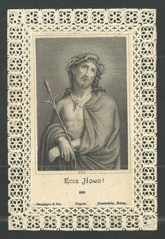 Holy card canivet antique del Ecce Homo image pieuse santino andachtsbild estamp