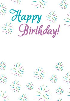 #Birthday #Card Free Printables