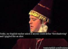 i swear, no matter what grade you are in, your English teachers will ask you this every year without fail :P
