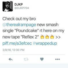 "@Regrann from @rampagethelastboyscout -  #RP @DJKP704 Check out my bro @therealrampage new smash single ""Poundcake"" rt here on my new #mixtape ""Reflex 2""  http://ift.tt/1mqxiY4  #Working #deepfreeze @marsheag @felonymuzik @aeompr #Regrann"
