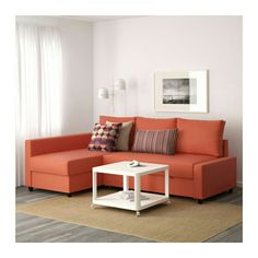 IKEA   FRIHETEN, Corner Sofa Bed With Storage, Skiftebo Dark Orange , This  Sofa Converts Quickly And Easily Into A Spacious Bed When You Remove The  Back ...