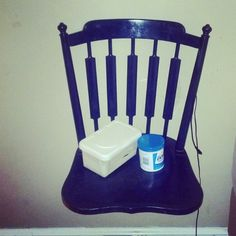 Chair turned nightstand